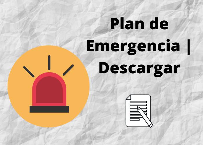 portada de plan de emergencia