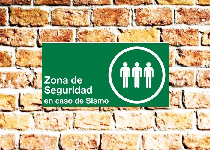 señaletica de seguridad zona segura